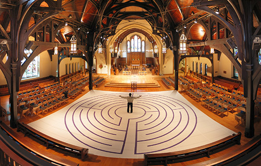 Labyrinth in Christ Church Cathedral